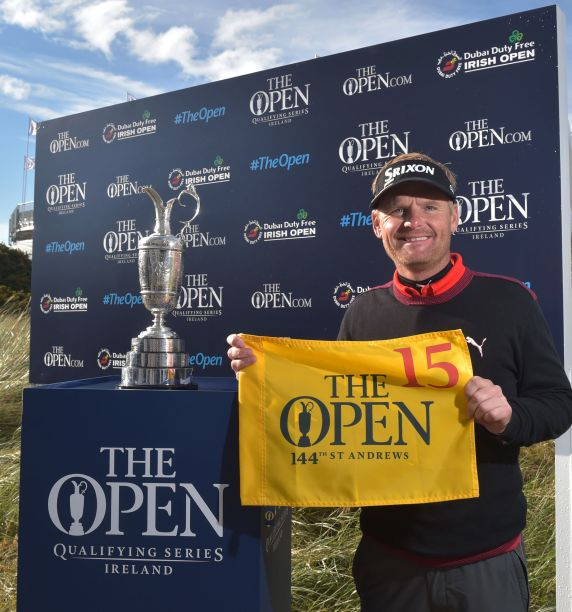 Søren Kjeldsen led the three qualifiers for The Open at Royal County Down. Credit: The R & A