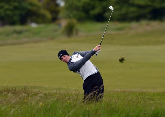 Stuart Grehan en route to victory in the East of Ireland Amateur at County Louth. Picture  Pat Cashman