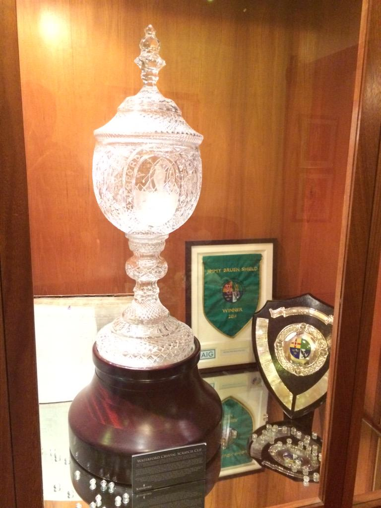 The famous Waterford Scratch Cup is too heavy to be moved