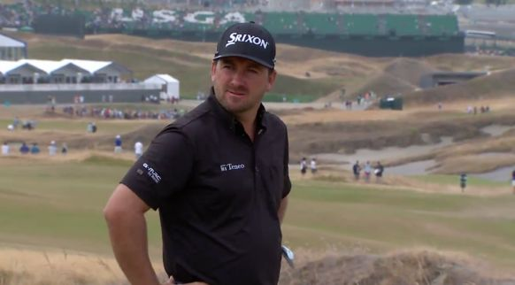 Graeme McDowell laments a good shot going to 35 feet at the 14th