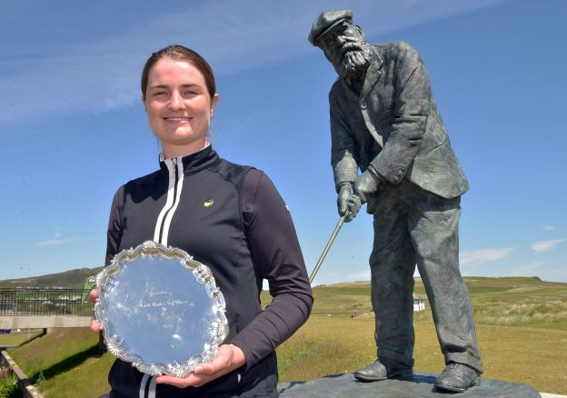 Olivia Mehaffey with the Ita Wallace plate. Picture:  Pat Cashman