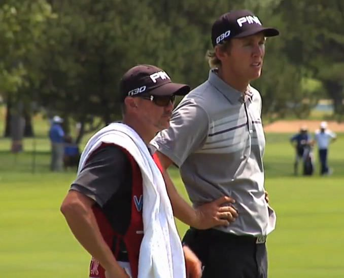 Seamus Power and his caddie