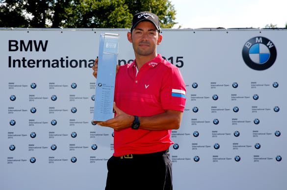 Pablo Larrazábal with the BMW International Open. Picture: Getty Images