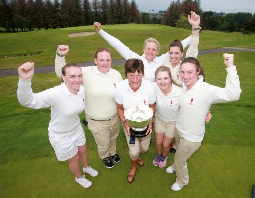 The winning Ulster team with Captain Janet Wilson at Wexford Golf Club. Picture: Ronan Lang
