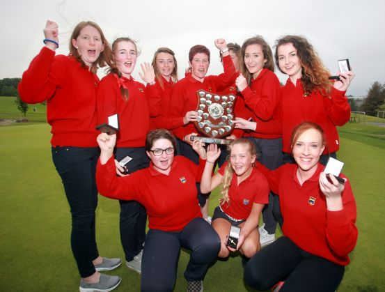Munster, winners of the Girls Interprovincial Series, with Captain Jennifer Hickey at Wexford Golf Club. Picture: Ronan Lang