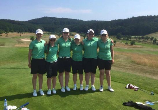 The Irish Girls Team following their win over Scotland.