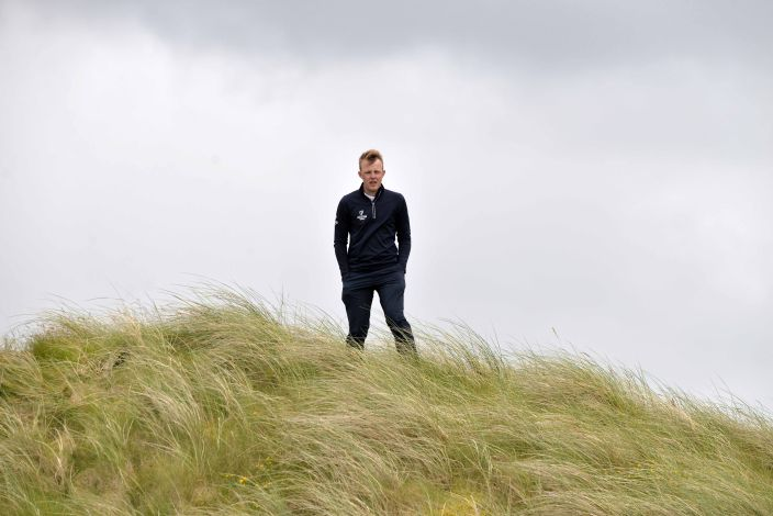 TOP MAN — .Leinster's Paul McBride, who won all six of his matches in the 2015 Interprovincial Championship, watches the action on the final day at Rosapenna Golf Club. Picture by Pat Cashman