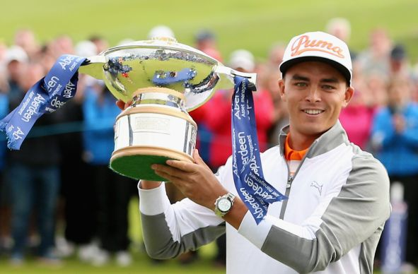 Rickie Fowler with the Aberdeen Asset Management Scottish Open. Picture: Getty Images