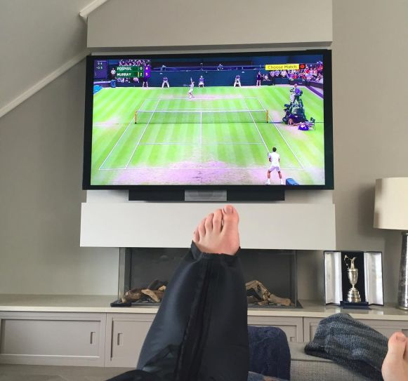 Rory McIlroy's left ankle. Picture via Instagram