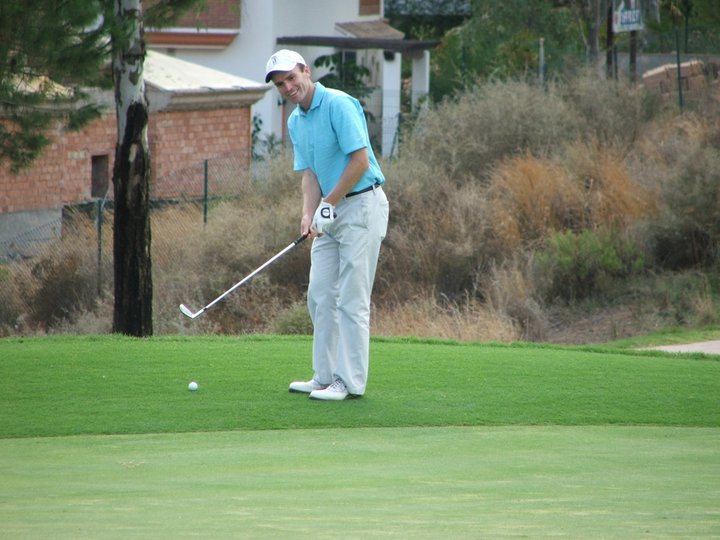 Justin Kehoe is enjoying life as an amateur golfer. Picture courtesy Justin Kehoe/Facebook