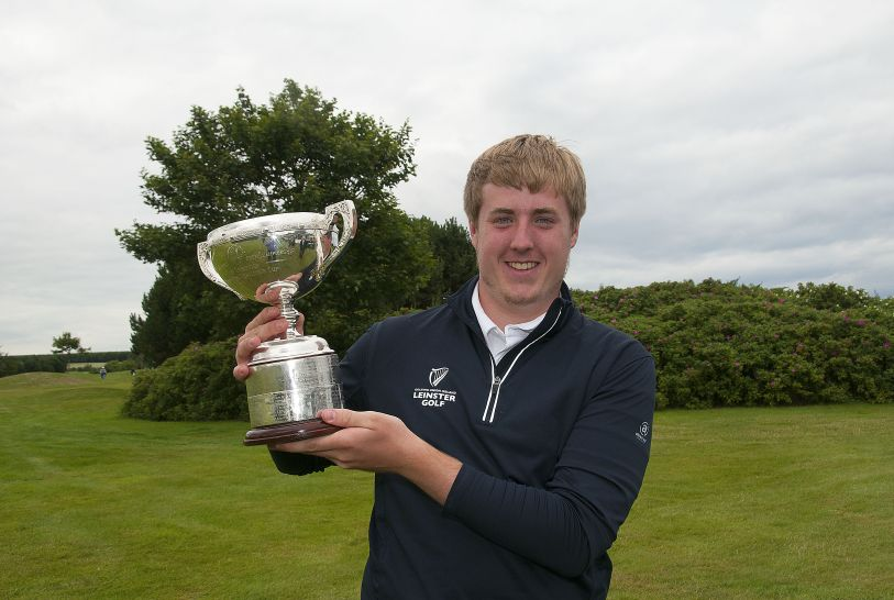 Winner Michael Ryan (New Ross) with the Leinster Boys Amateur Open Championship at Balcarrick Golf Club. Photo: Ronan Quinlan