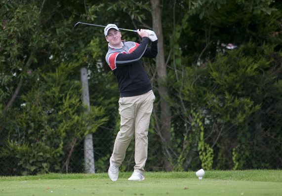 Gary Ward (Kinsale) in the Leinster Boys Amateur Open Championship 2015 at Balcarrick Golf Club. Photo: Ronan Quinlan