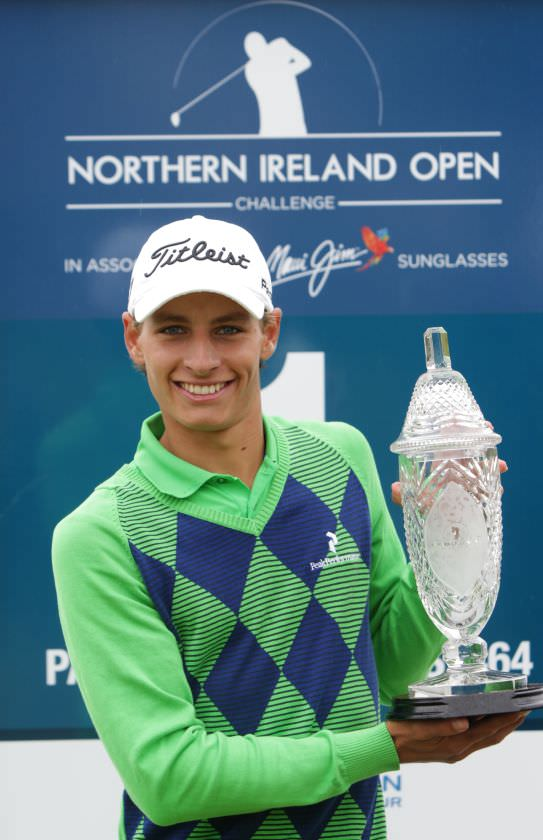 Sweden's Joakim Lagergren won the 2014 Northern Ireland Open at Galgorm Castle with a 13-under-par 271 tota