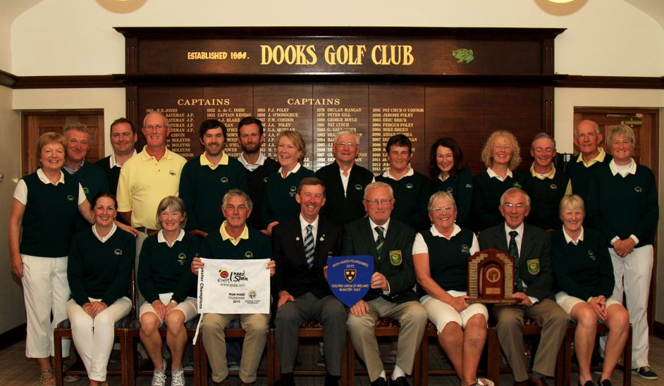 Does with the Spanish Tourist Board sponsored Irish Mixed Foursomes Munster pennant. Picture: Cork Golf News