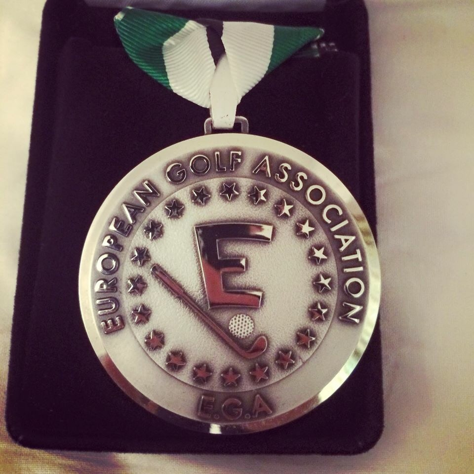 Gary Hurley's silver medal. Via Facebook/Gary Hurley