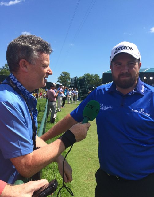 Shane Lowry speaks to RTE Radio's Greg Allen in Wisconsin