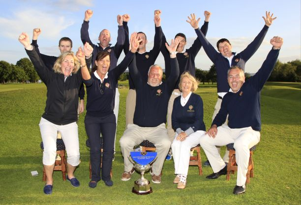 Victorious Limerick AIG Senior Cup Team qualifiers for All Ireland Finals in September. Picture: Golffile