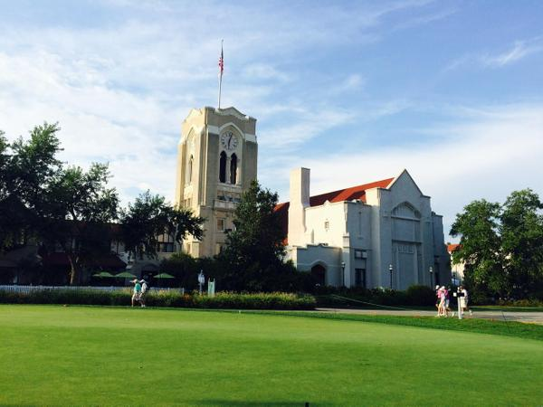 The massive clubhouse at Olympia Fields