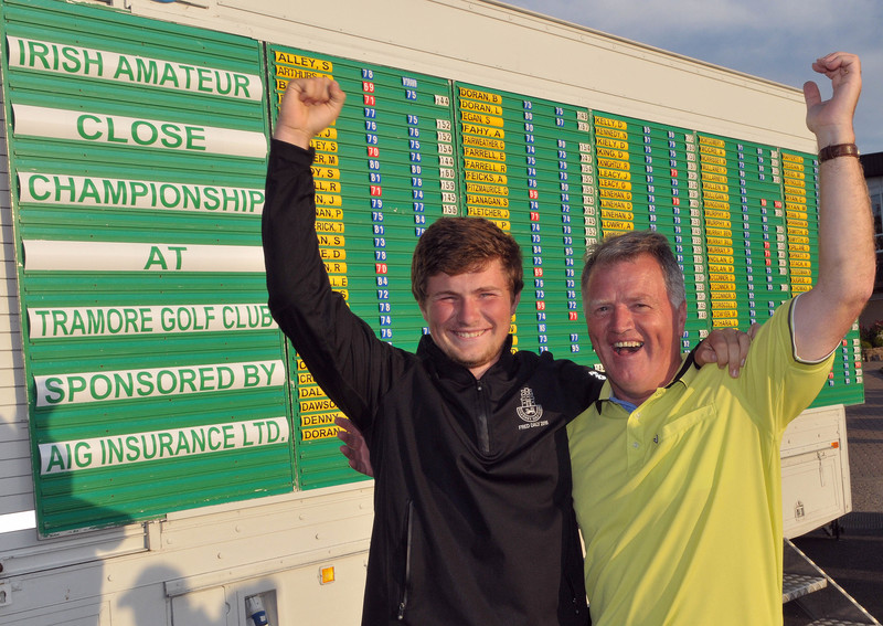 Father and Son......Kevin and Eddie Power (Kilkenny) qualified for the matchplay of the 2015 Irish Amateur Close Championship. Picture by  Pat Cashman
