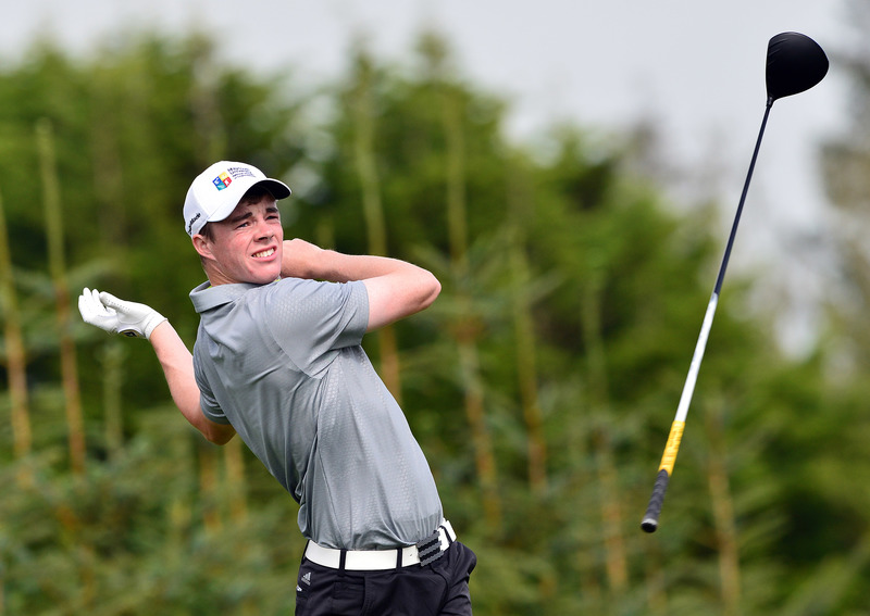 Stuart Grehan (Tullamore) driving at the 8th. Stuart Grehan (Tullamore) driving at the 8th tee during the second day of strokeplay at the 2015 Irish Amateur Close Championship at Tramore.  Picture by  Pat Cashman