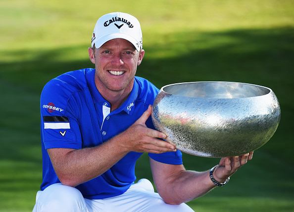 David Horsey with the Made in Denmark trophy. Picture; Getty Images