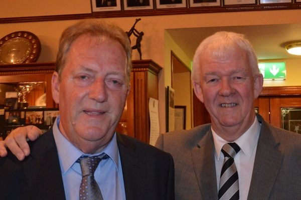 John Burns, pictured with Michael McCumiskey, Secretary of the PGA Irish Region.