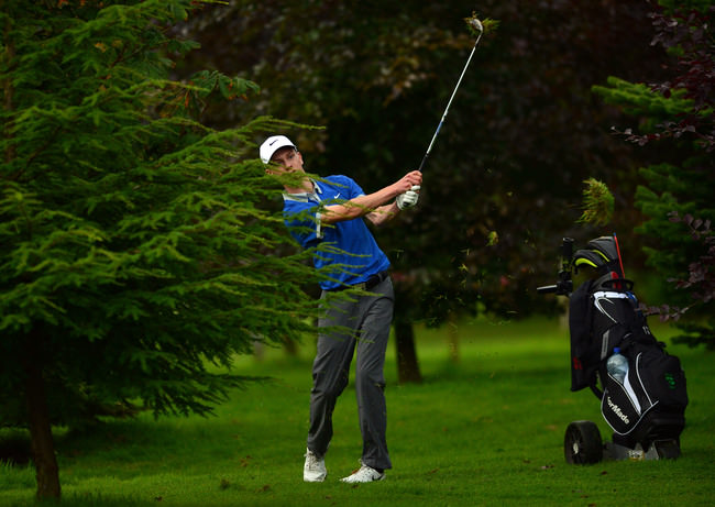 Rowan Lester (Hermitage) playing at the 10th hole in the Irish Youths Open & Irish Colleges Invitational Championship at Moyola Park Golf. Picture by  Pat Cashman