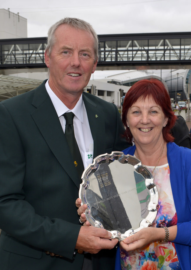 Irish Senior International John Mitchell (Tramore) with his wife Jenny. Picture by Pat Cashman