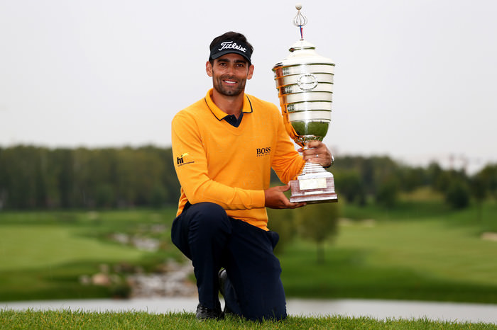 Lee Slattery, winner of the 2015 M2M Russian Open. Picture: Getty Images