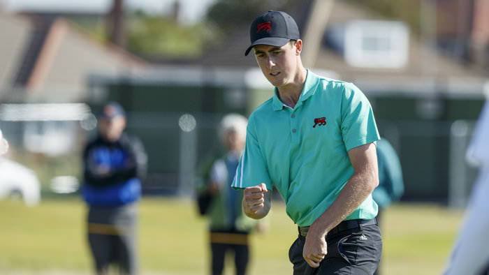 Gary Hurley, pictured during last week's Walker Cup, made a positive start in his first professional event at the Qualifying School. Picture: © USGA/John Mummert