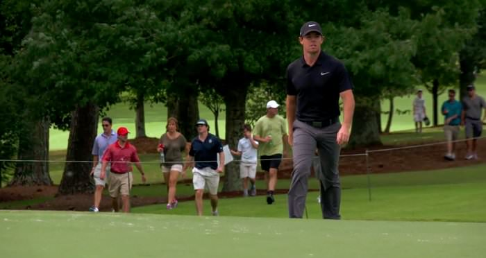Rory McIlroy practices in Atlanta