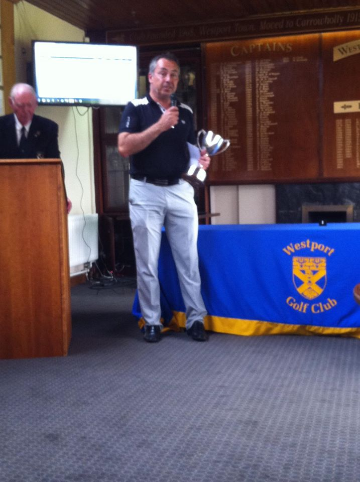Pat Murray with the 2015 connacht mid-amateur championship trophy