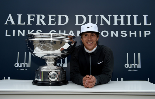 Thorbjørn Olesen with the trophy. Picture: Getty