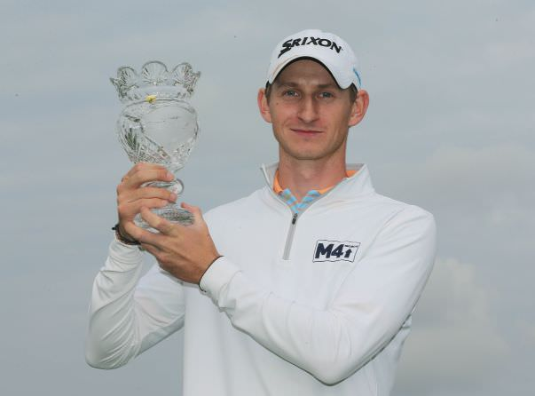 Tom Murray with the Volopa Irish Challenge trophy