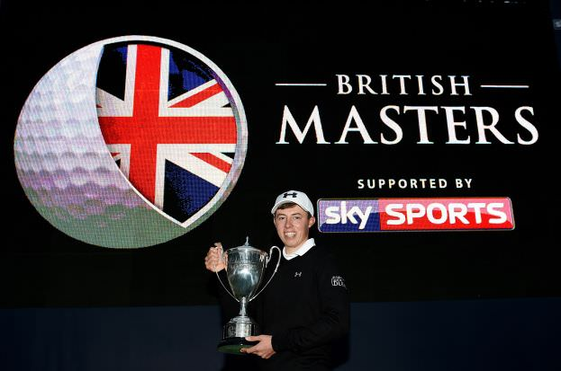 Matthew Fitzpatrick with the British Masters trophy. Picture: Getty Images