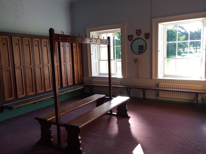 The members' locker room at Royal Belfast
