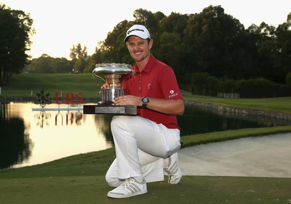 Justin Rose wins the UBS Hong Kong Open. Picture: Getty Images