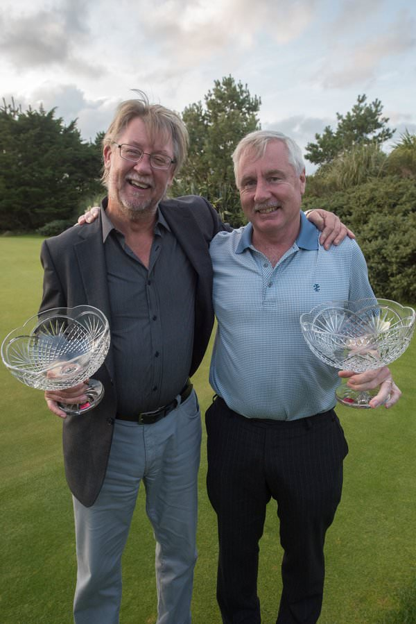 Left to right: Liam Murphy (European) & Dermot Ryan (Powerscourt) winners 2015 Irish Fourball Matchplay at The European Club