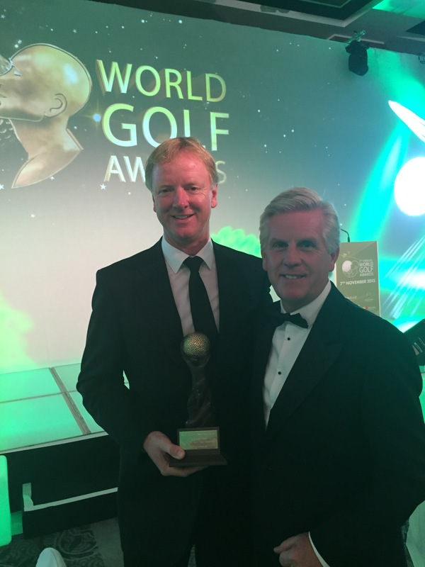 John Bergin with World Golf Awards host, Steve Rider