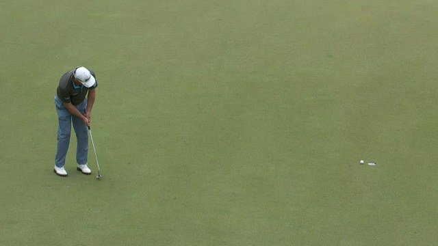 This birdie putt at the 17th could prove to be important for McDowell