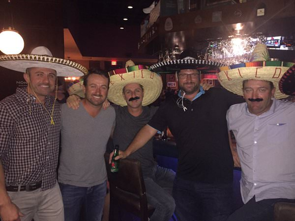 Graeme McDowell celebrates his win with friends