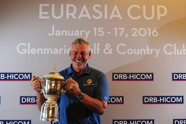 European Captain Darren Clarke. Picture/EurAsia Cup