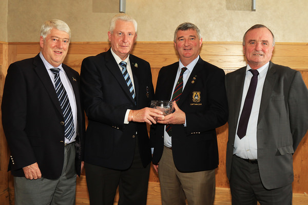 Munster Club of the Year Award. L-R, Michael Burns (Tramore), John Moloughney (Chairman) Munster Golf, David Jackman (Captain Tramore), Owen Kavanagh (Tramore). Picture: Niall O'Shea
