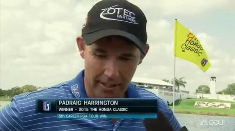 "Pádraig Harrington following his win in the Honda Classic. ""I know if I am contending, I can win."""