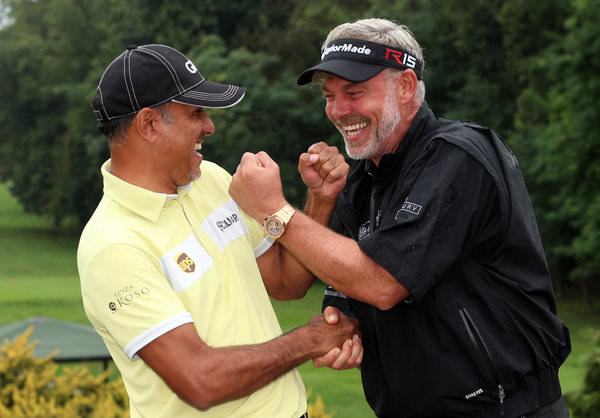 2016 EurAsia Cup captains Darren-Clarke and Jeev Milkha Singh. Picture via  www.eurasiacup.com