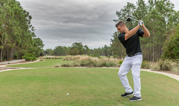 Quarterback Tim Tebow in action during the pro-am. Picture: Michael O'Bryon
