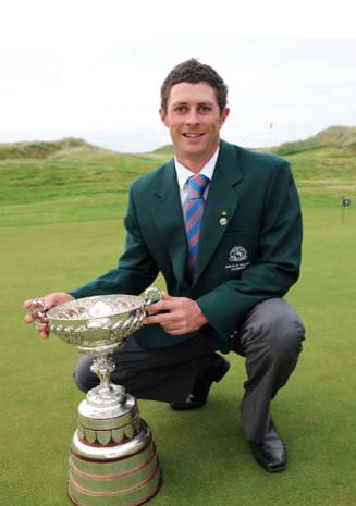 Robbie Cannon with the 2009 South of Ireland Championship