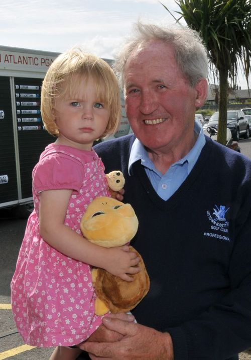 BOBBY BROWNE WITH HIS GRAND-DAUGHTER IN 2009. Picture:  Pat Cashman