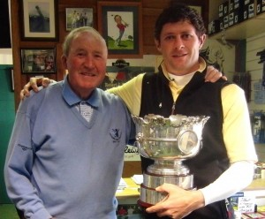 Bobby and Robbie with the Irish Amateur Open trophy