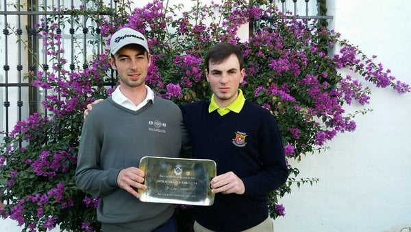 Tommy O'Driscoll (left) with his brother Eamonn following his fifth place finish in the Copa Andalucía